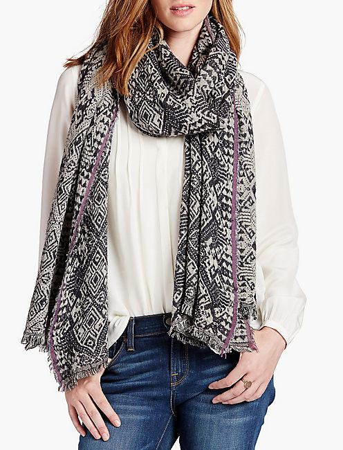 TRIBAL DIAMOND SCARF,