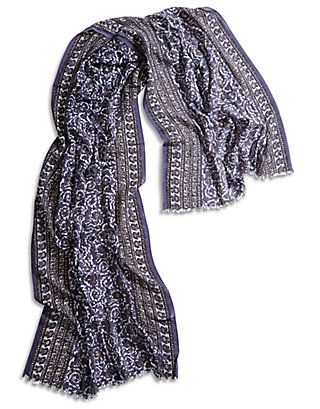 LUCKY JAHID WOODBLOCK SCARF