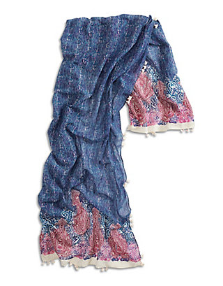 LUCKY PAISLEY BOARDER SCARF