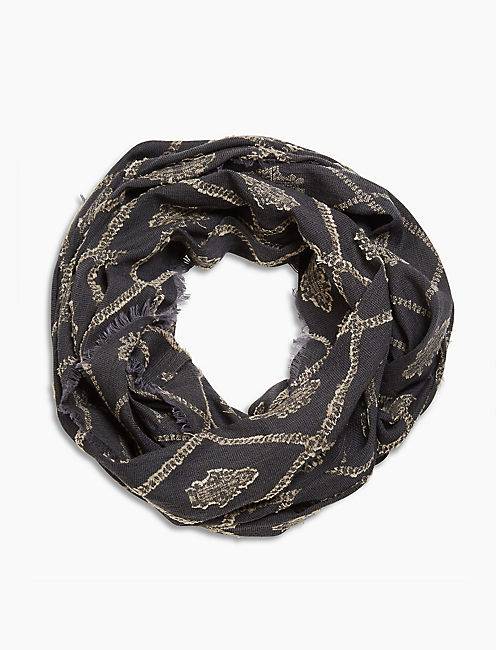 LUCKY IROQUOIS IKAT LOOP SCARF