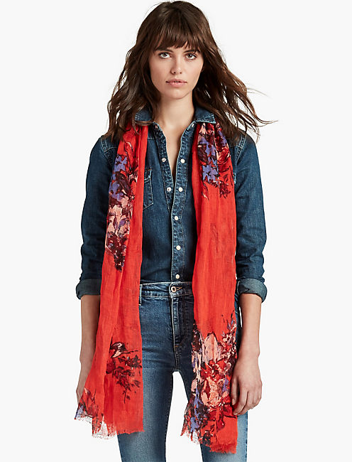 MIDNIGHT FLORAL SCARF,