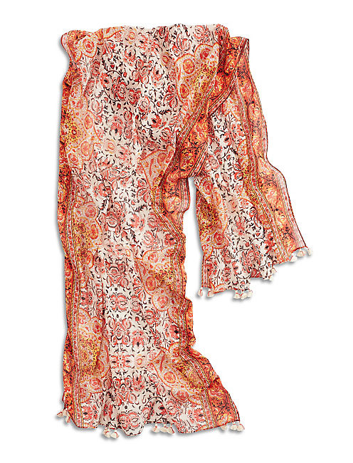 ORNATE PAISLEY SCARF,