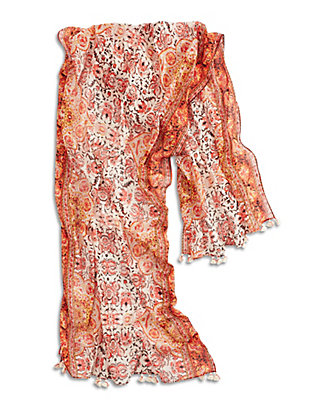 LUCKY ORNATE PAISLEY SCARF