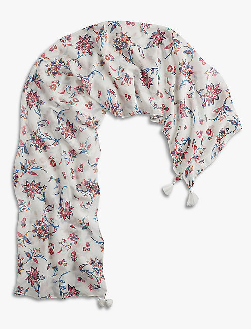 FLORAL SCARF,