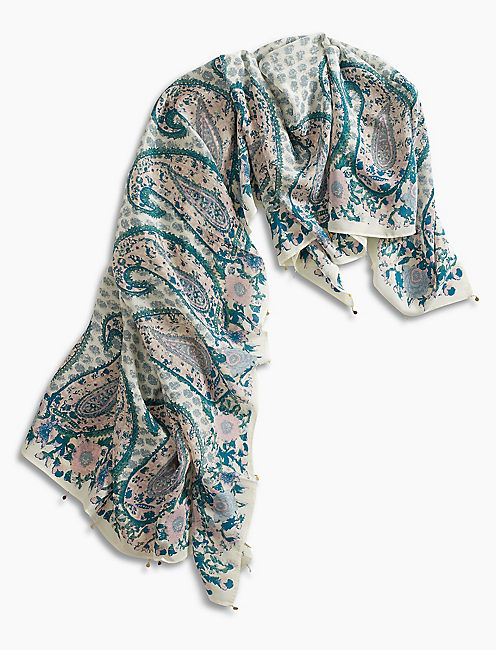 Lucky Paisley Square Scarf