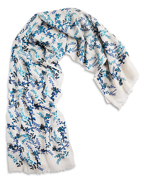 FLORAL EMBROIDERED SCARF,