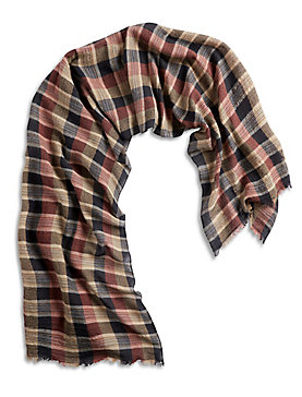 CHECKERED STRIPE SCARF