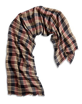 LUCKY CHECKERED STRIPE SCARF
