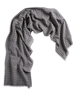 LUCKY MENS CHARCOAL GRID SCARF