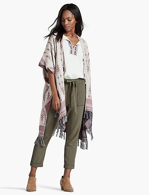 Lucky Reversible Geo Kimono
