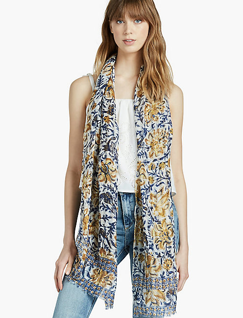 FARNICK FLORAL SCARF,