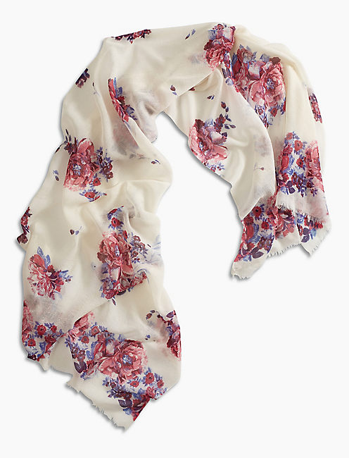 Lucky Watercolor Floral Scarf