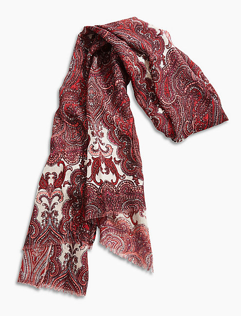 Lucky Damask Paisley Scarf