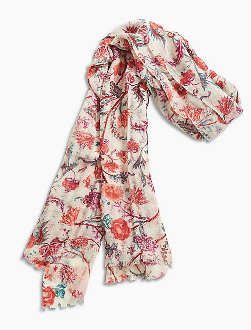 Lucky Rosewood Printed Scarf