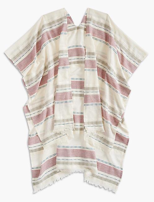 Lucky Textured Stripe Kimono