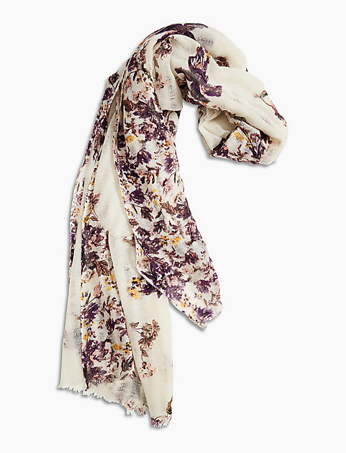 Lucky Tossed Floral Scarf