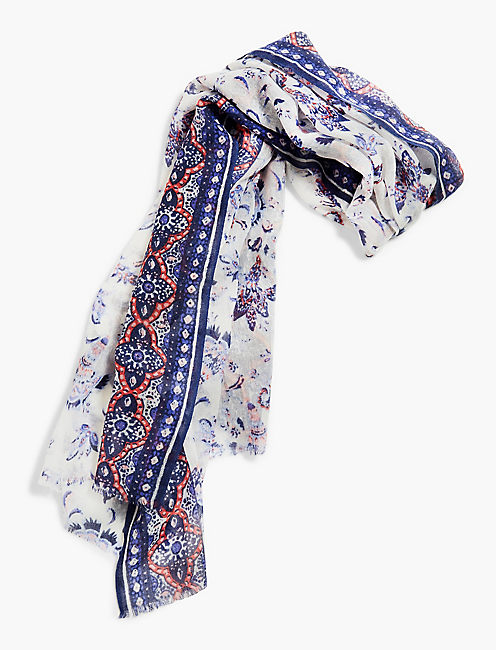 LUCKY CHINTZ FLORAL SCARF