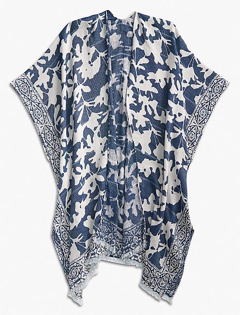 Lucky Indigo Floral Kimono