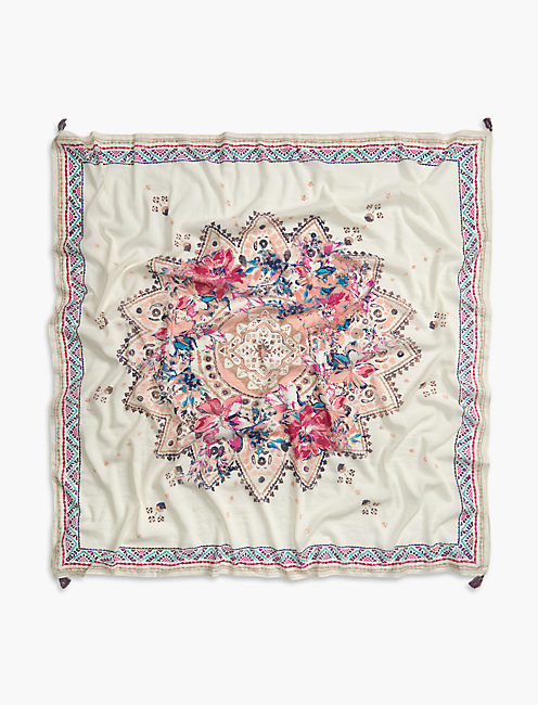 Lucky Square Floral Scarf
