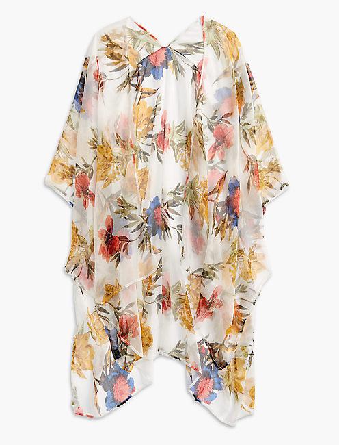 Lucky Floral Chiffon Kimono