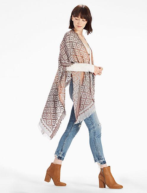 Lucky Chevron Ombre Kimono