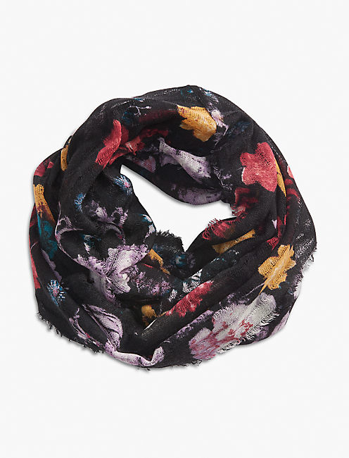 EXPLOED FLORAL LOOP SCARF,
