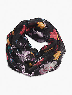 EXPLODED FLORAL LOOP SCARF