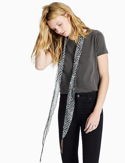 TRAIL VINES SKINNY SCARF,