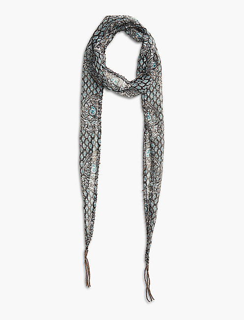 TRAIL VINES SKINNY SCARF, MULTI