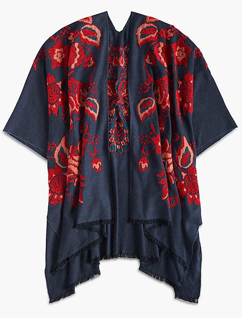 Lucky Floral Waterfall Kimono