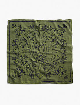 Lot Stock and Barrel EMBROIDERED SKULL BANDANA