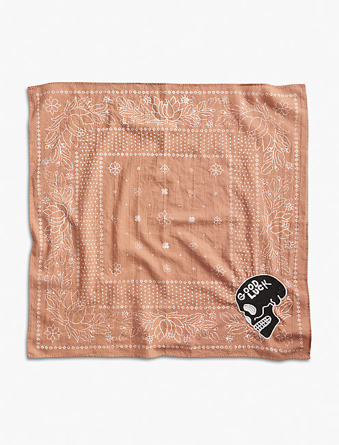 Lot, Stock And Barrel EMBROIDERED BANDANA, DUSTY PINK