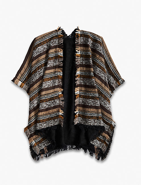 Lucky Novelty Reversible Fray Kimono