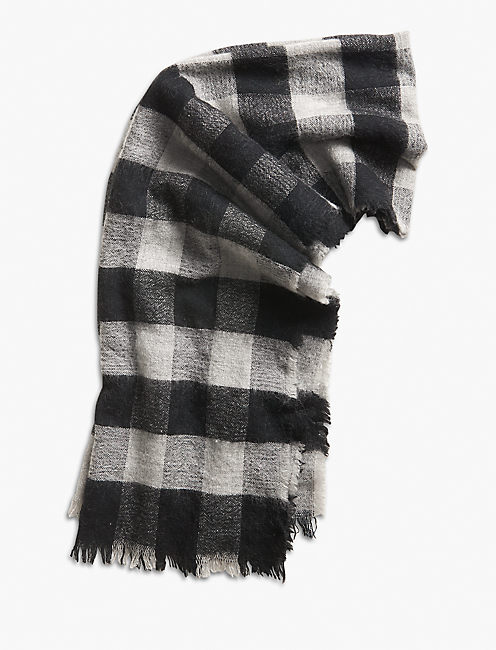 CHECK BRUSHED SCARF,