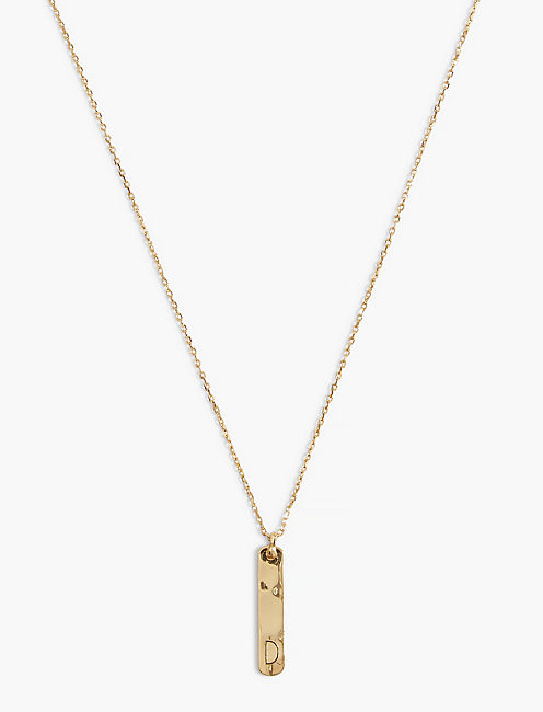 LUCKY D BAR NECKLACE
