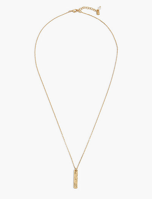 N BAR NECKLACE,