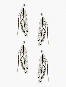 FEATHER STUD SET EARRING