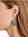 MULTI DROP EARRING, BLUE MULTI