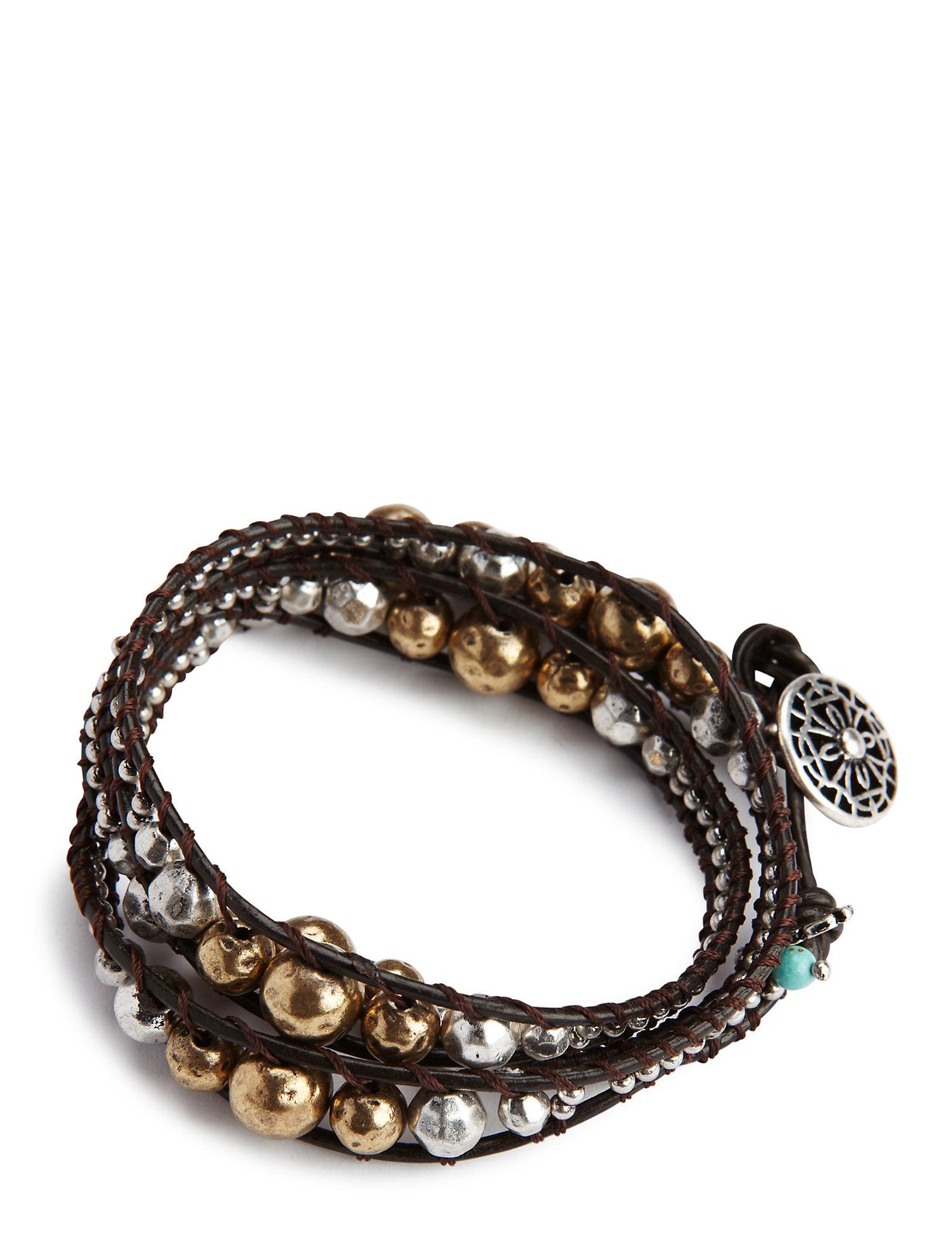 Lucky Metal Wrap Bracelet