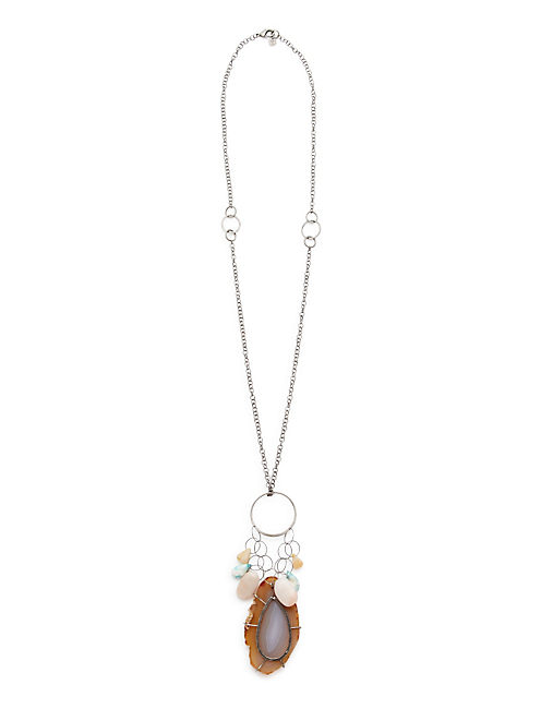 NK - AGATE CHARM NECKLACE,