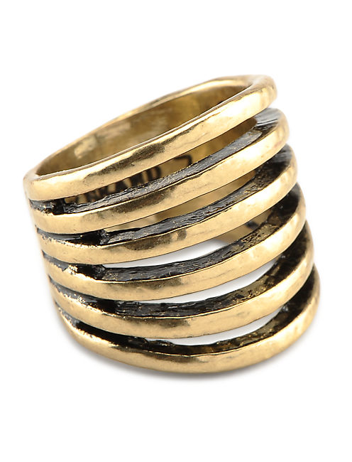 GOLD MULTI BAND RING, 715 GOLD