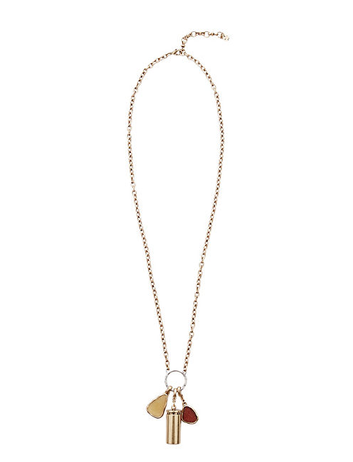 CRYSTAL CHARM NECKLACE, 715 GOLD