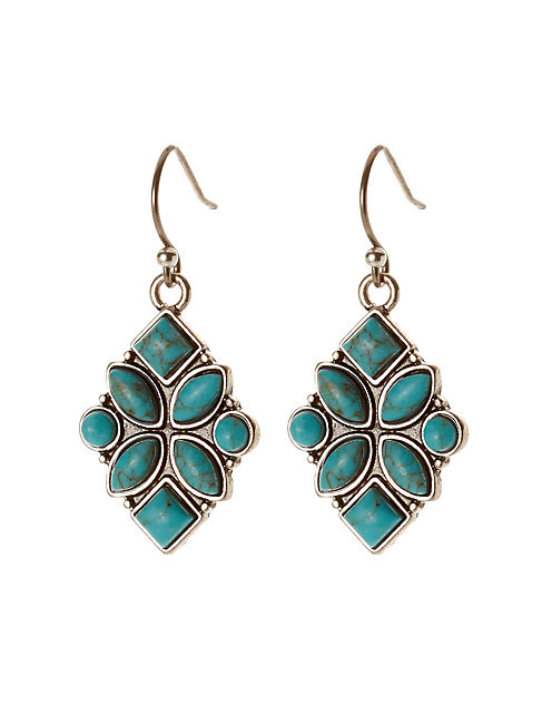 TURQUOISE DROP EARRING,