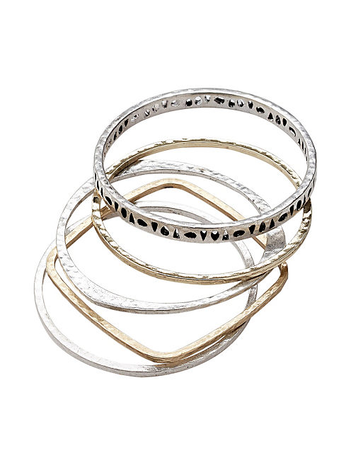 METAL BANGLE SET, MULTI