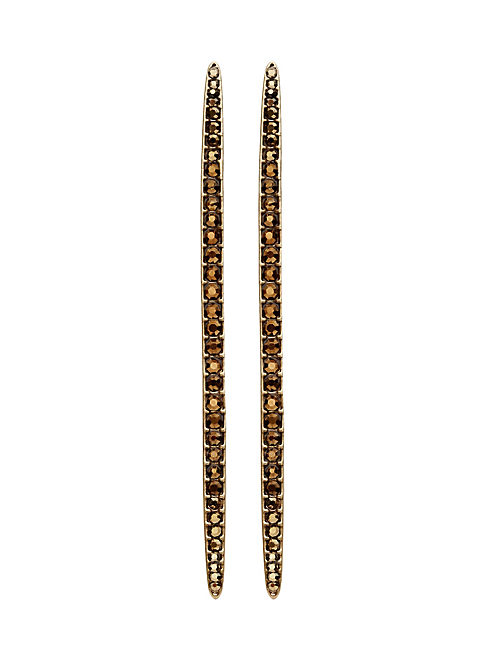 PAVE LINEAR EARRING, 715 GOLD