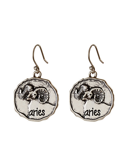 ARIES DROP EAR, SILVER