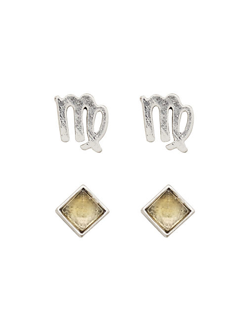 VIRGO STUD SET, SILVER