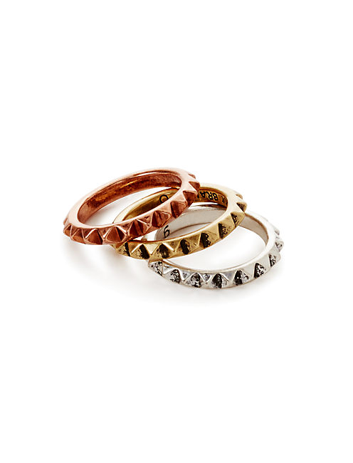 SPIKE STACK RING, MULTI
