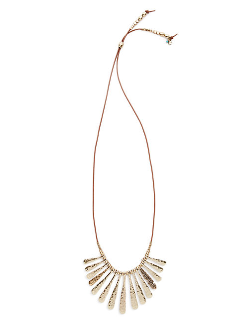 METAL PADDLE NECKLACE, MULTI