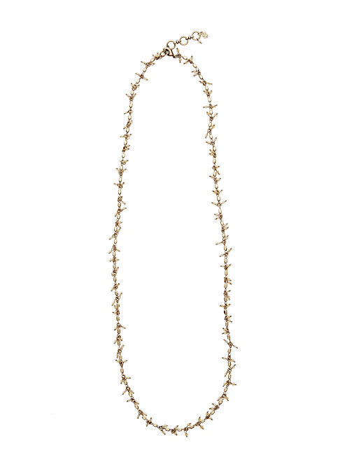 BEADED STRAND NECKLACE, 715 GOLD